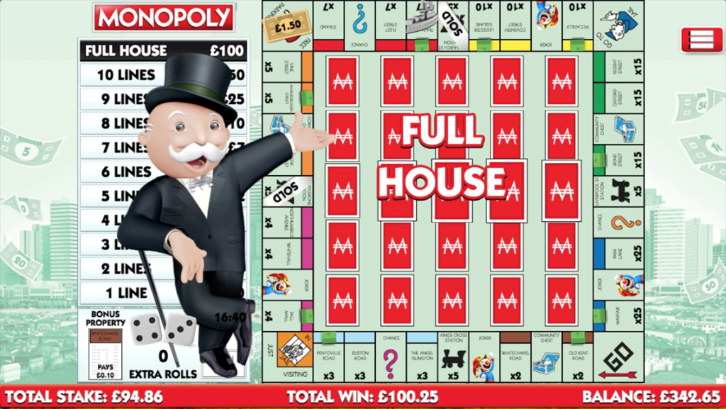 Monopoly Slingo Full House