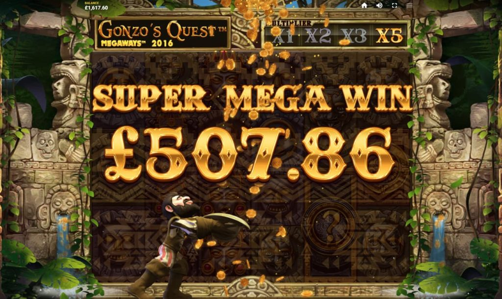 Quest Gonzo Megaways Big Win